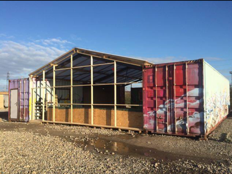 A communal zones project in Dunkirk, France refugee camp.
